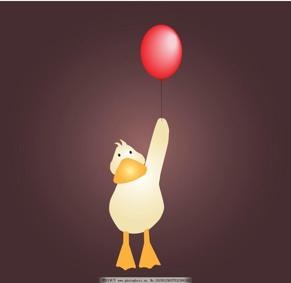 小鸭子 气球 郁金香 吊牌