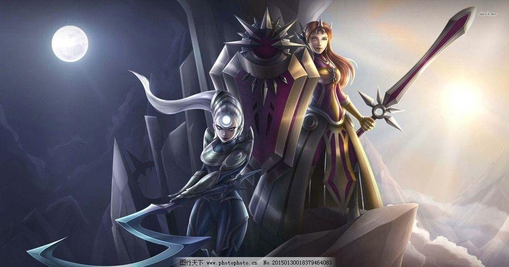 设计图库 动漫卡通 动漫人物  英雄联盟 lol 高清 皎月 女神 戴安娜