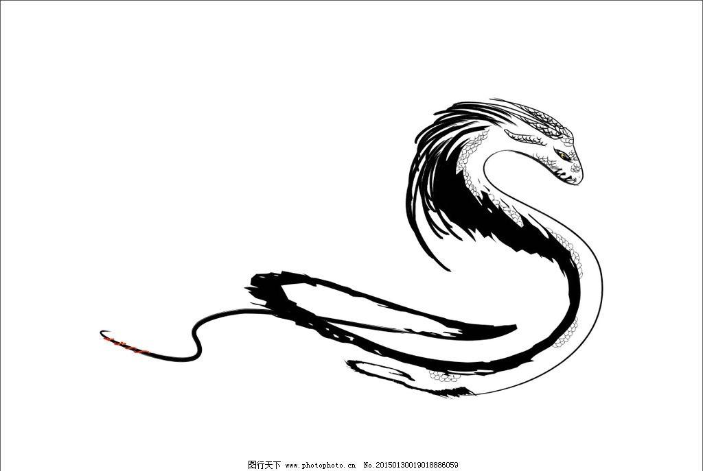 手绘古风山海经腾蛇