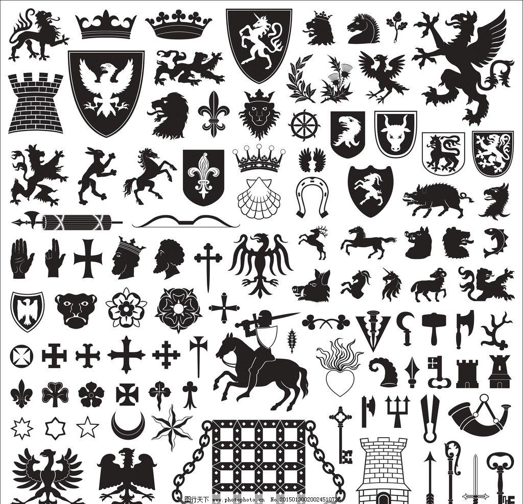 徽章图片,纹章 盾牌 勋章 边框 装饰边框 图腾 皇冠