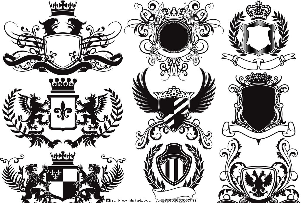 装饰边框 图腾 皇冠