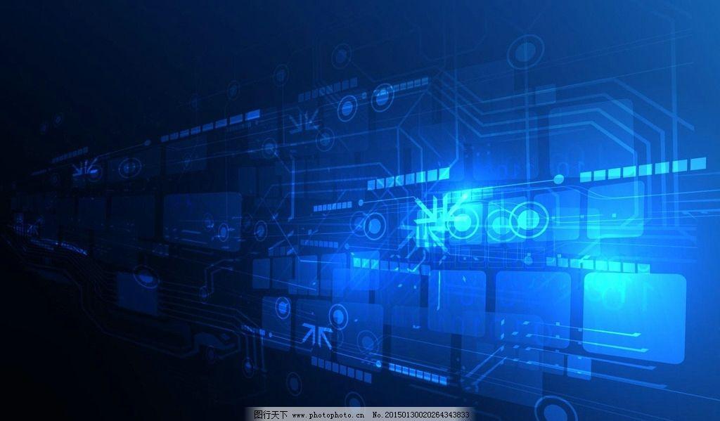 电路板 科技背景 蓝色集成板