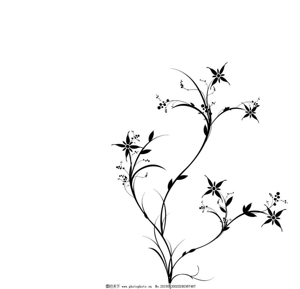 背景黑色小树 简约 黑白 树木 风景 边框