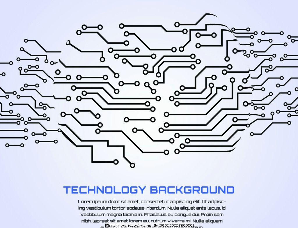 电路板 科技背景 集成板