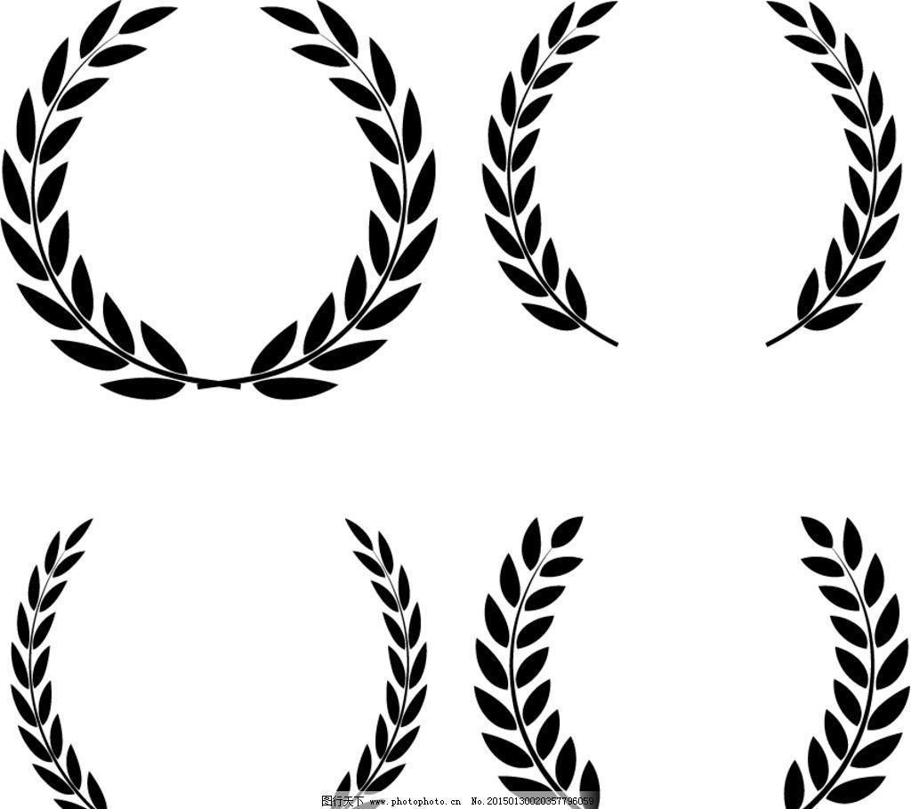 橄榄枝装饰边框图片