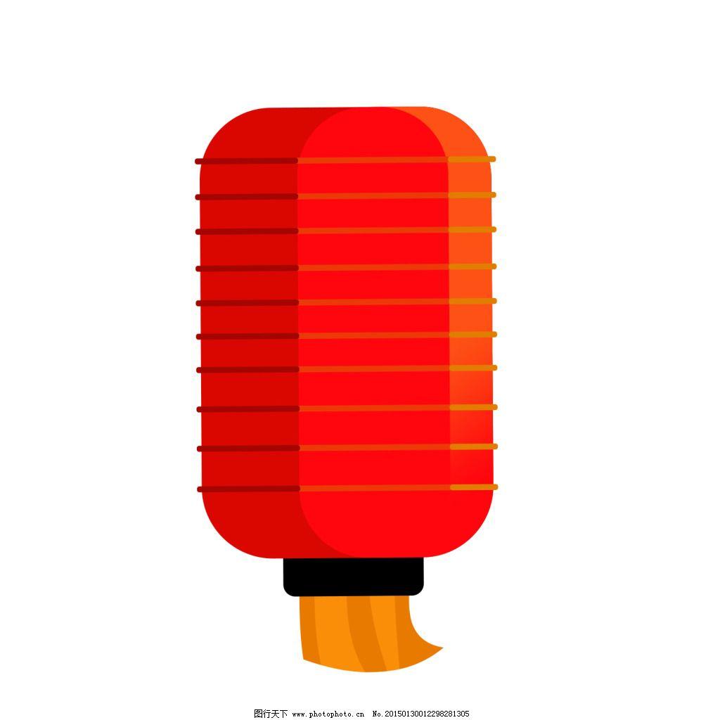 大红灯笼矢量图