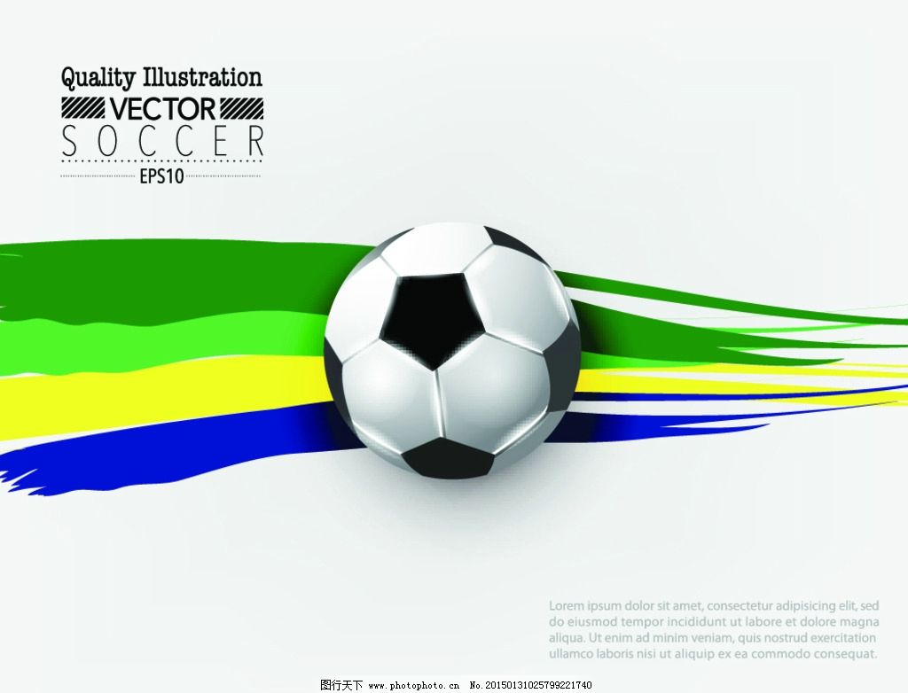 足球英语手绘海报