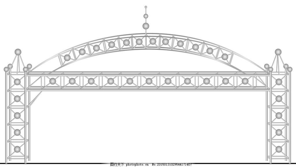 不锈钢拱形门 不锈钢结构图 拱形门结构图 拱形门效果图