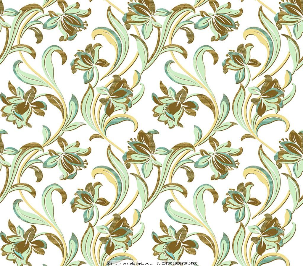 欧花 墙纸 花布 大马士革 窗帘 郁金香 设计 psd分层素材 背景素材