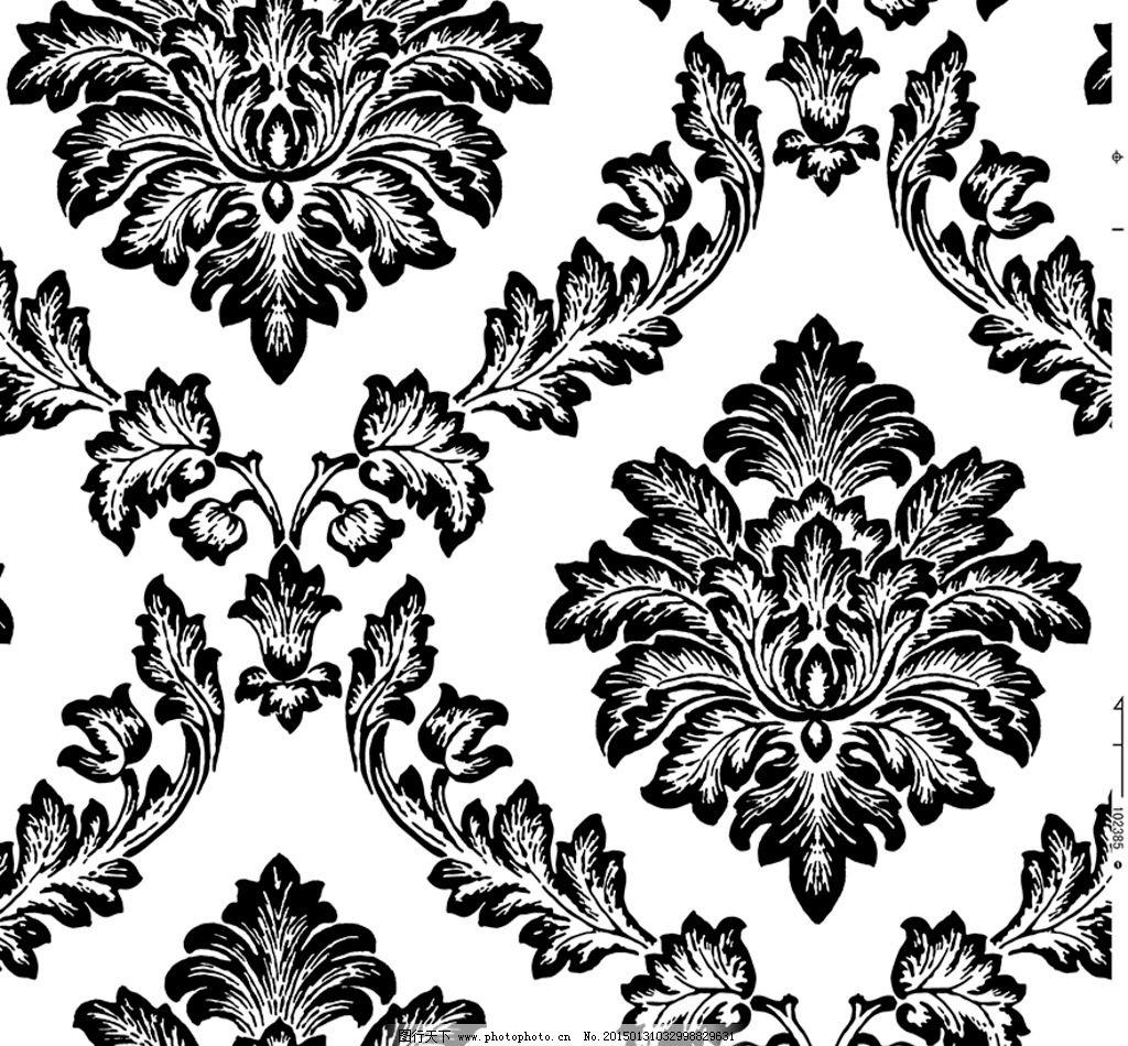欧式花纹图片,欧花 墙纸 花布 大马士革 窗帘-图行