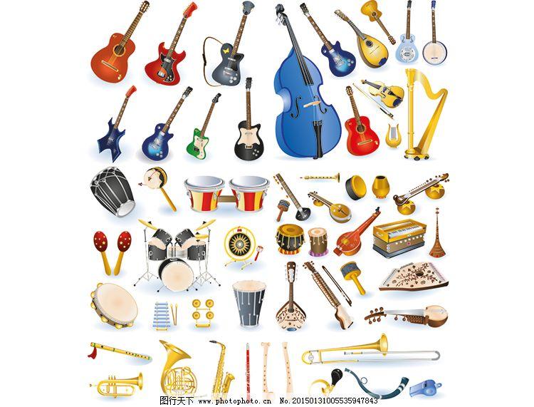 打击乐器背景矢量素材