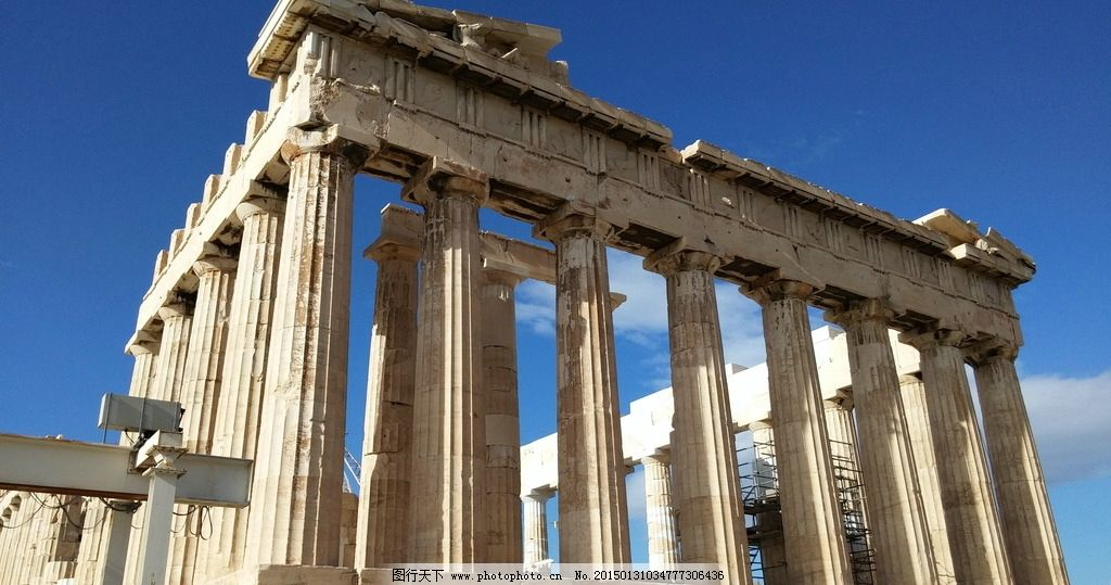古希腊帕特农神庙图片