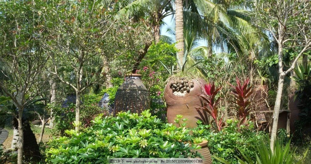 景观小品 陶艺 陶艺品 景观设计 园林景观 绿树 园林建筑集锦 摄影