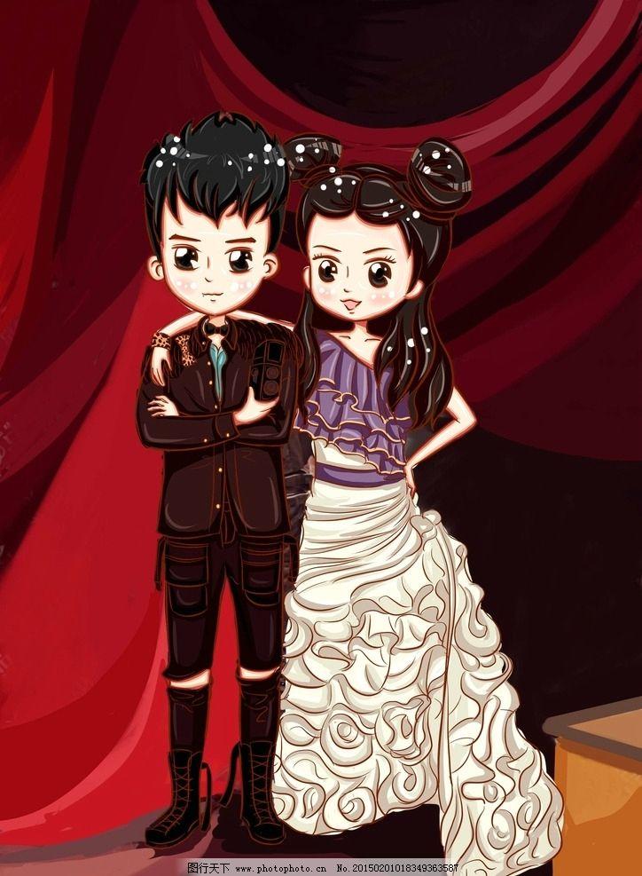 婚纱照动漫图片手绘