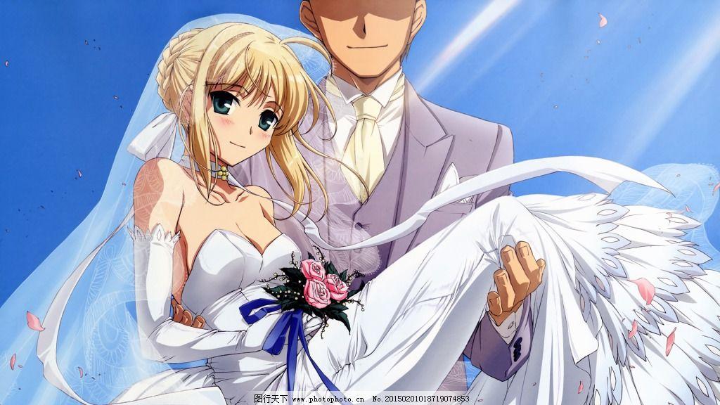 婚纱saber 动漫 可爱 少女 图片素材 卡通动漫可爱图片图片