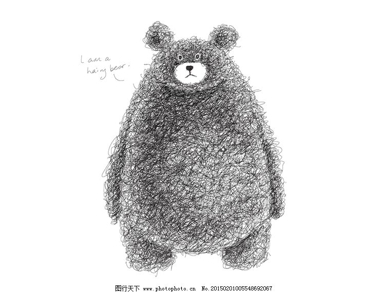 手绘素描背景矢量素材 手绘素描背景矢量素材免费下载 可爱 熊熊
