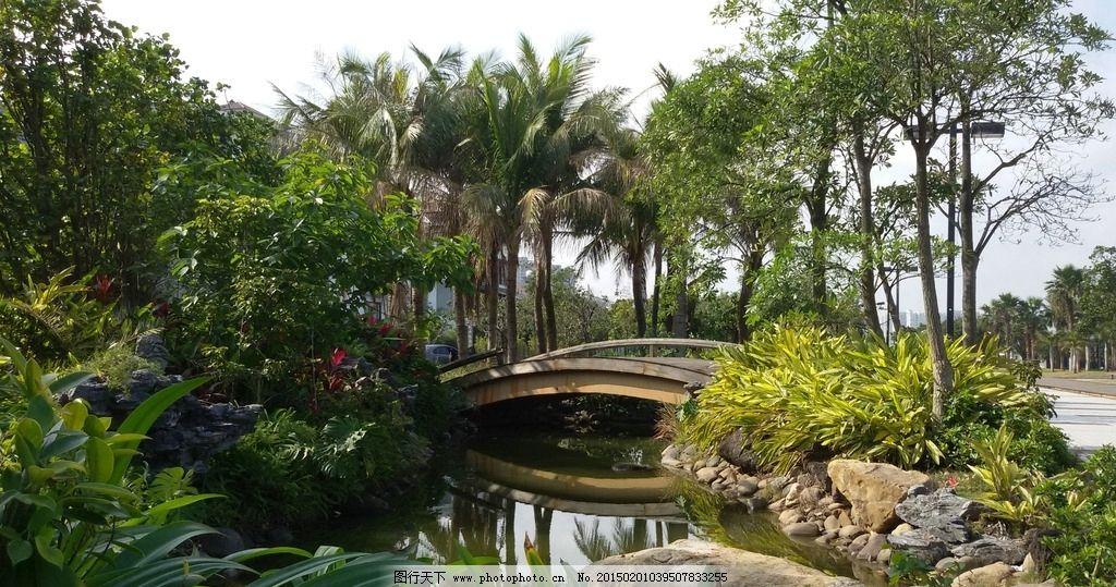 小区景观 景观设计 小区环境 水池 小桥 绿色植物 园林建筑集锦 摄影