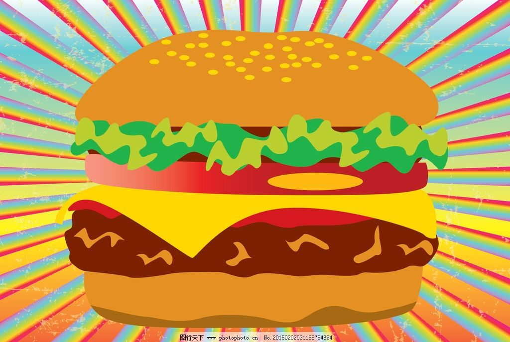 汉堡图片,可乐 薯条 图标 矢量汉堡标签 徽章 手绘-图
