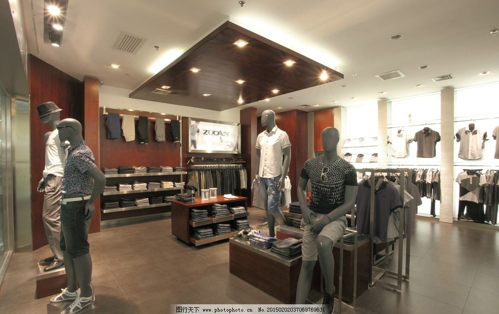 服装店 店面 展厅 男装 模特 专卖店 设计 室内 工装 装修 装潢 装饰