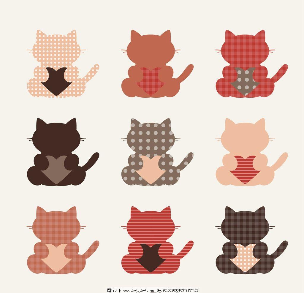 可爱卡通小猫图片