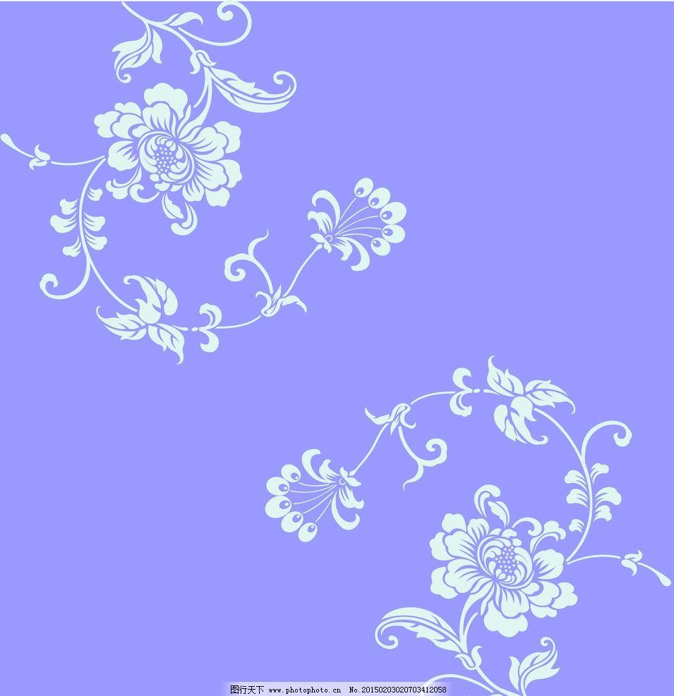 对角花 花纹 移门 花 艺术玻璃图案 叶子 移门图案素材 设计 底纹边框