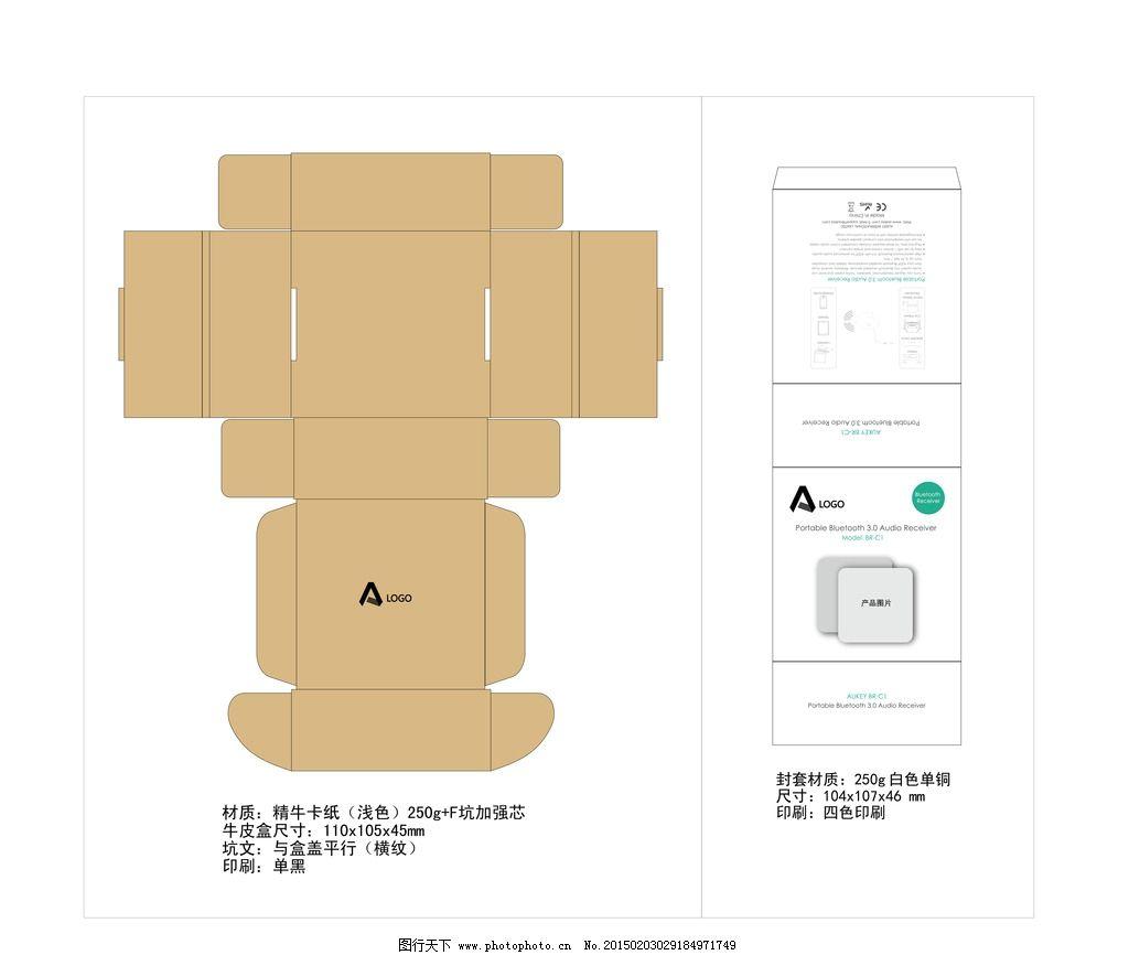 封套包装盒 飞机盒 盒子 包装盒模板 包装设计 飞机盒模板 牛皮纸