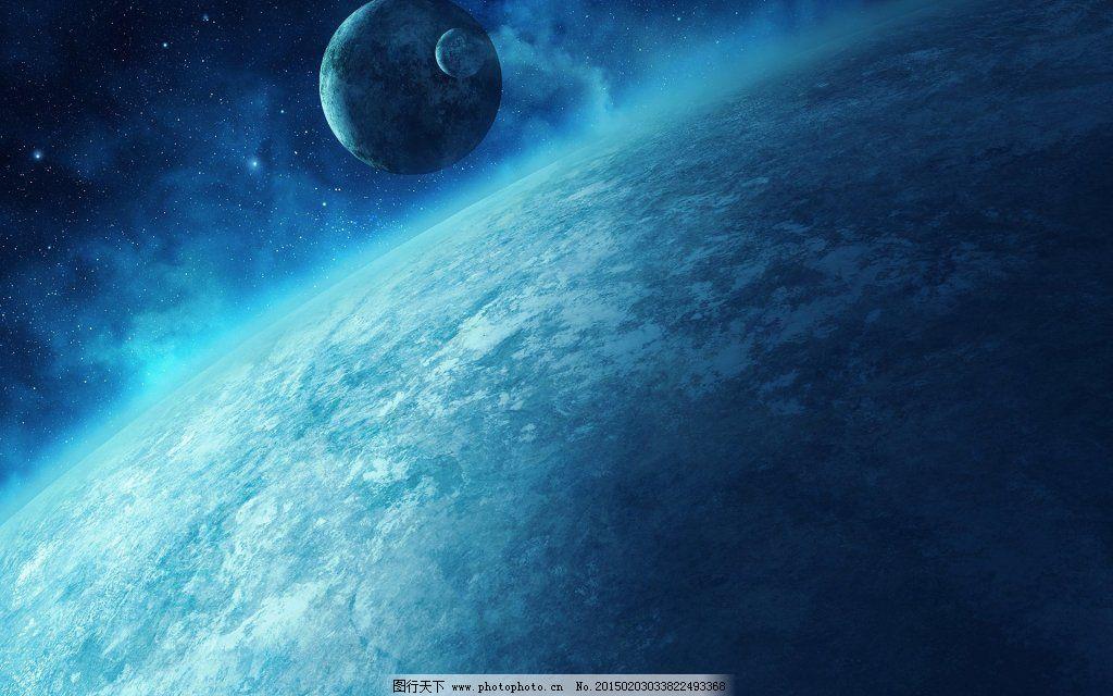 外太空-蓝色星球壁纸