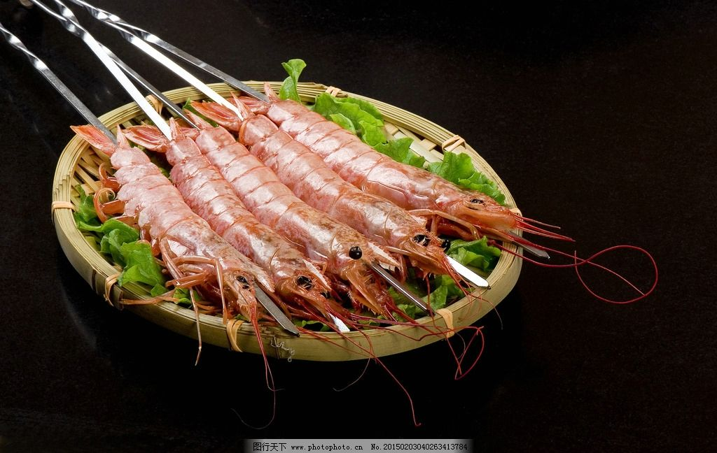 阿根廷大虾 烤虾 火锅 涮品 美食 黑底 爱摄影 摄影 餐饮美食 传统图片