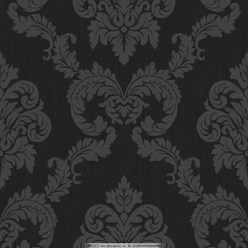 黑色大马士革壁纸素材