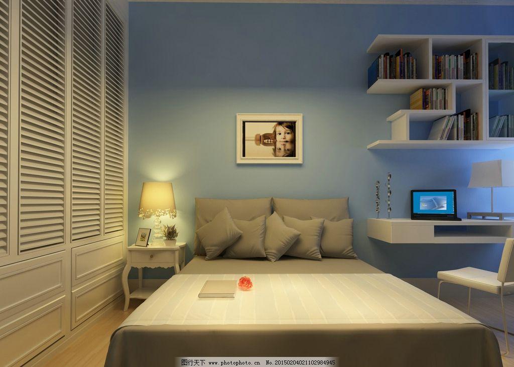 男孩房 床 儿童 书桌 套房  设计 3d设计 3d设计 300dpi jpg