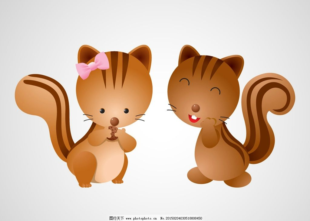 猫咪 狐狸 通动物素材 动物 卡通动物 时尚插画 时尚卡通 卡通形象