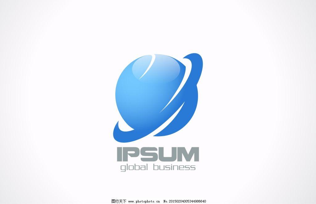 标志设计 创意logo设计 商标设计 新闻信息标志设计 蓝色星球图标