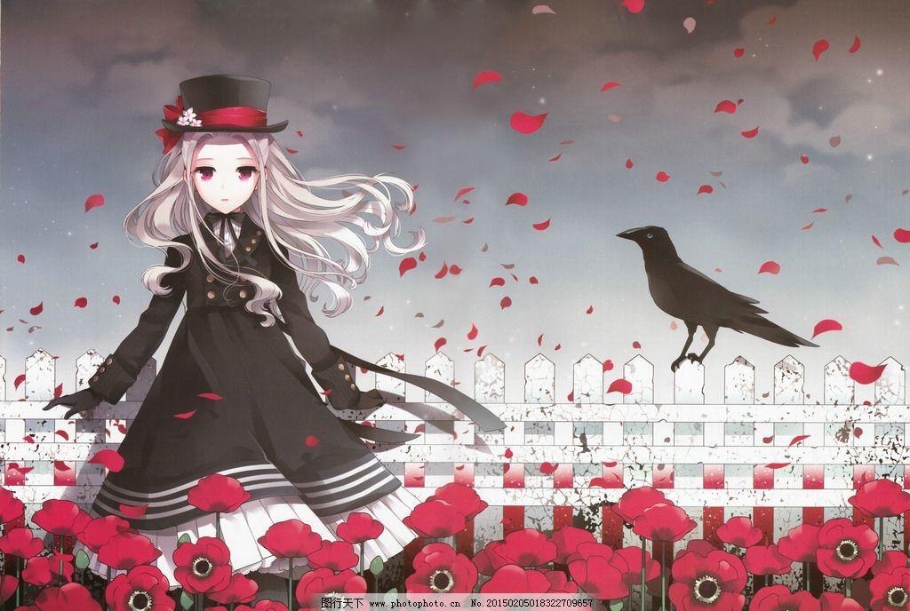 动漫 美女 哥特风 萝莉 洋装 玫瑰 设计 动漫动画 动漫人物 72dpi jpg