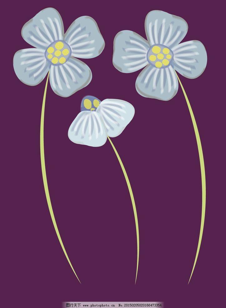 梦幻花朵 唯美花朵 花朵矢量 创意花朵 绚丽背景 彩色背景 炫彩背景
