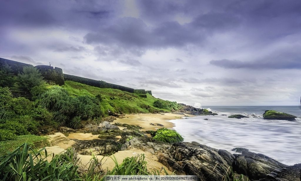 大海 天空 树木 石头 旅游摄影 自然景观 自然风景 jpg 摄影 自然景观