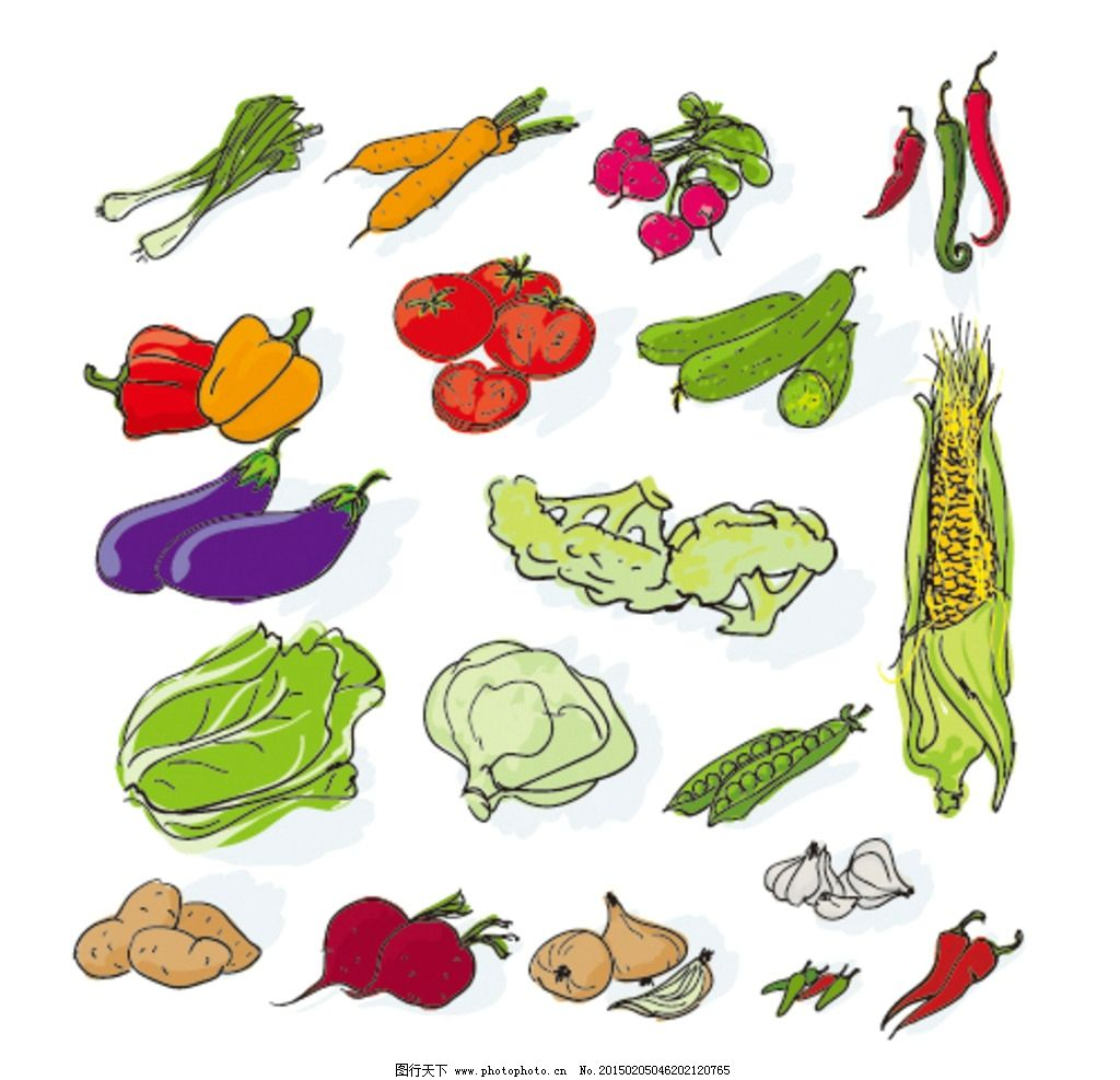 蔬菜置换同构手绘作品