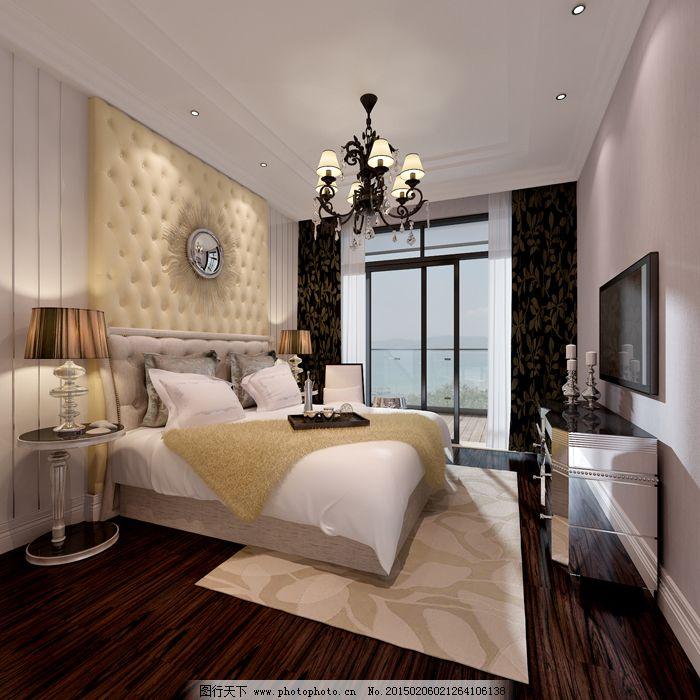 简欧式卧室免费下载 家居