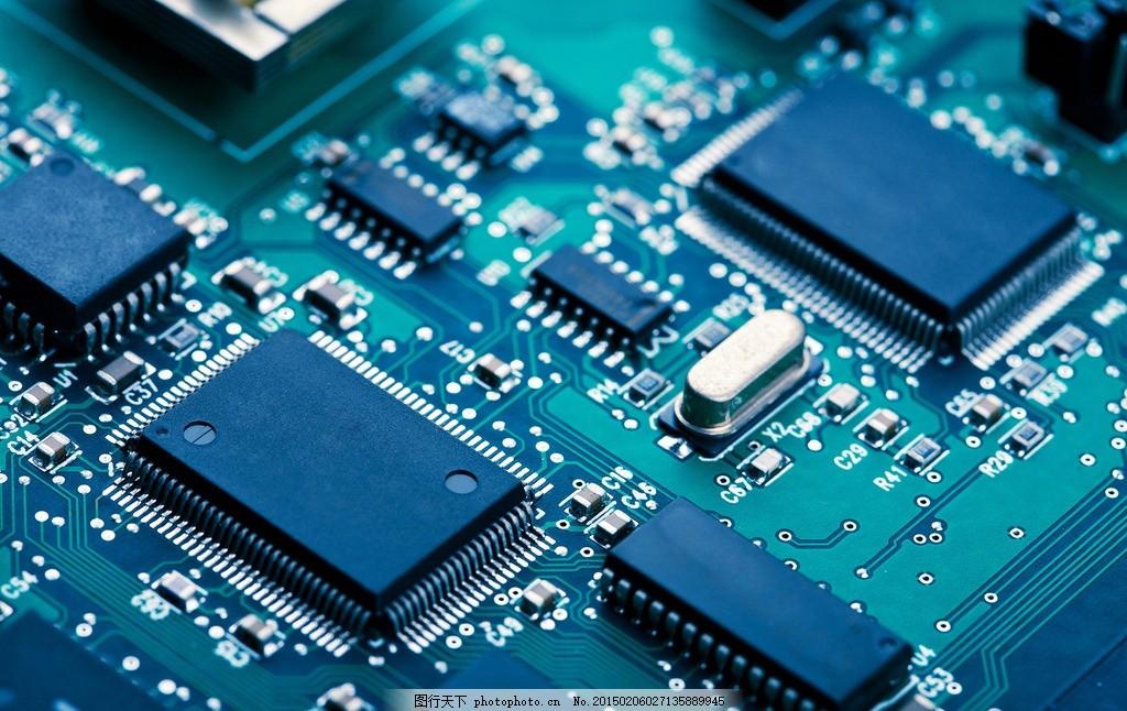 电脑元器件 线路 构造 走线 芯片 科技 摄影