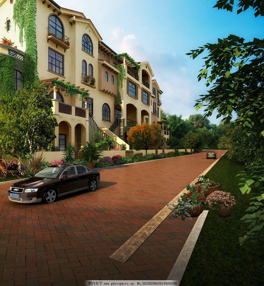 花园别墅景观设计图片