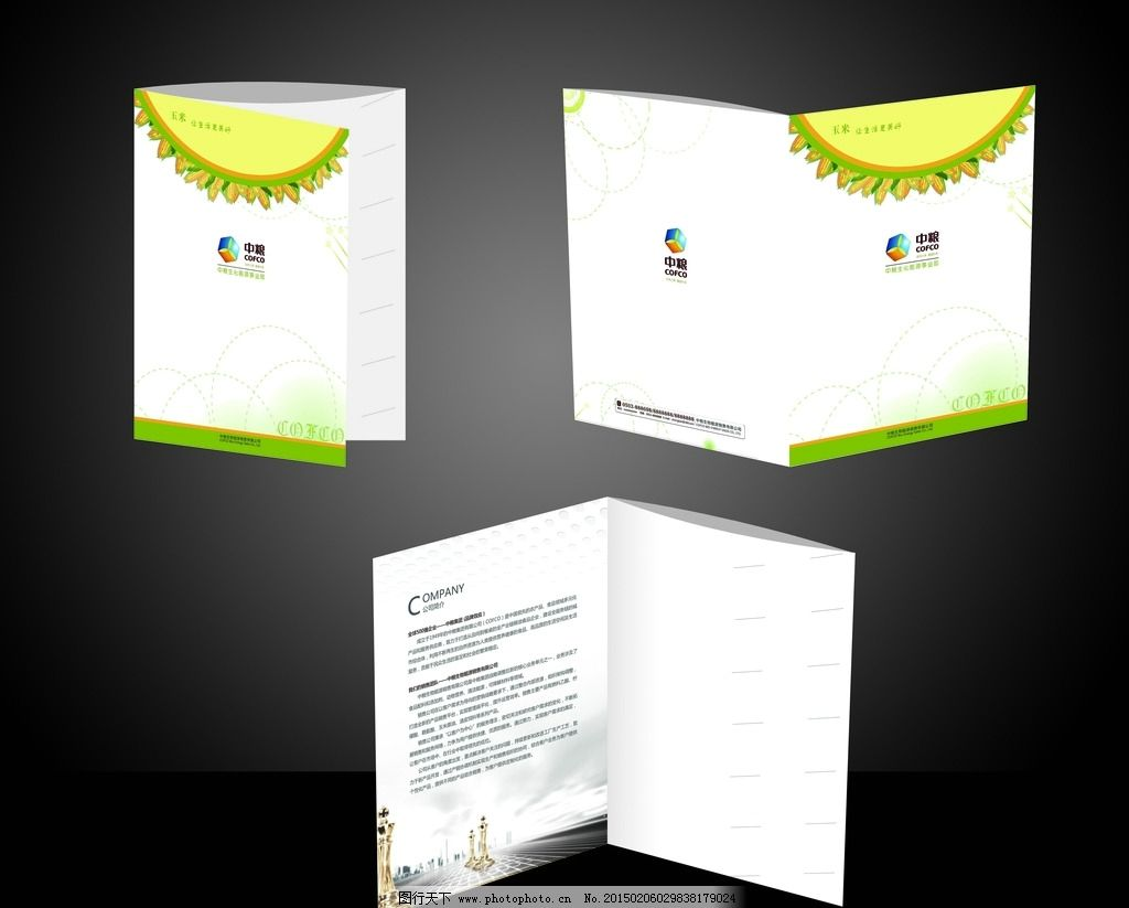 中粮 档案袋 文件袋 资料档案袋 公司文件袋 折页 设计 广告设计 vi