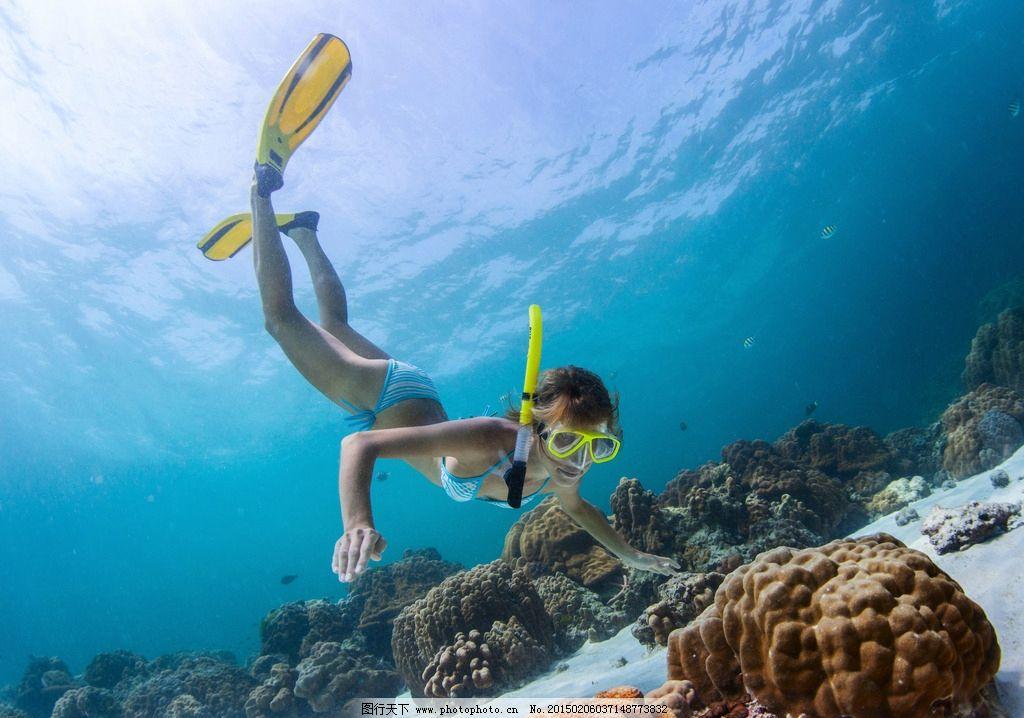 潜水美女图片