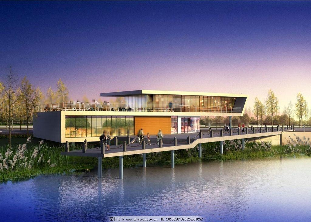 湖边景观环境设计图片
