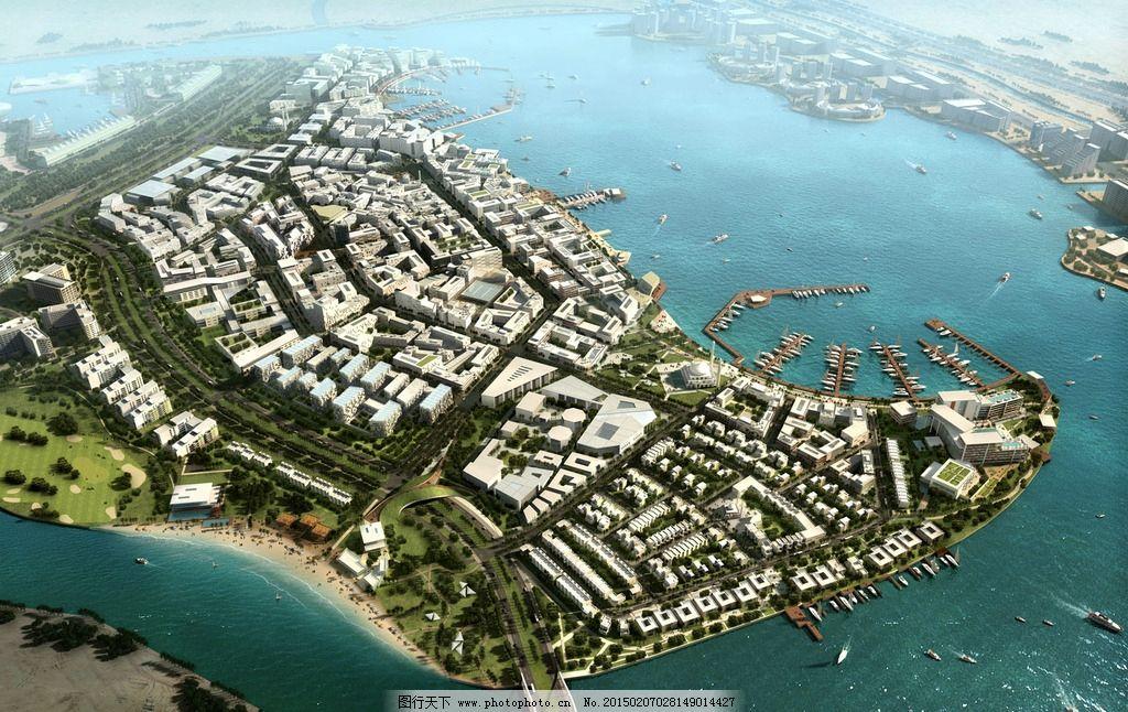 城市景观鸟瞰图图片