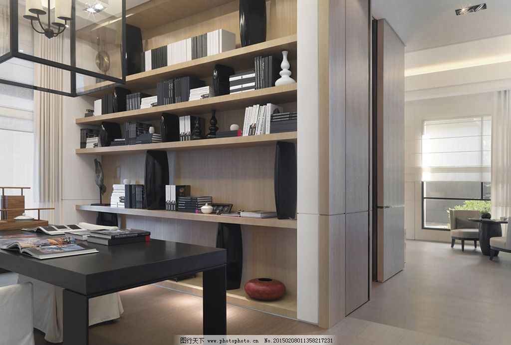简约室内效果图免费下载 摆设 茶几 窗帘模型 电视背景墙设计 电视柜