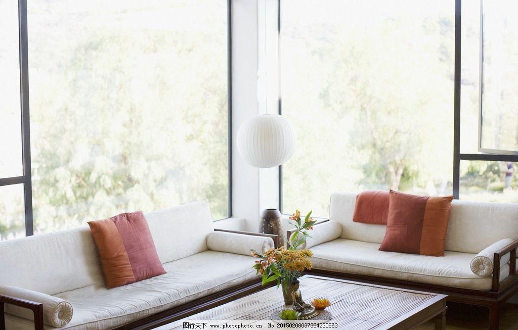 客厅场景图片,室内场景 壁画 摄影 沙发 桌子 场景-图
