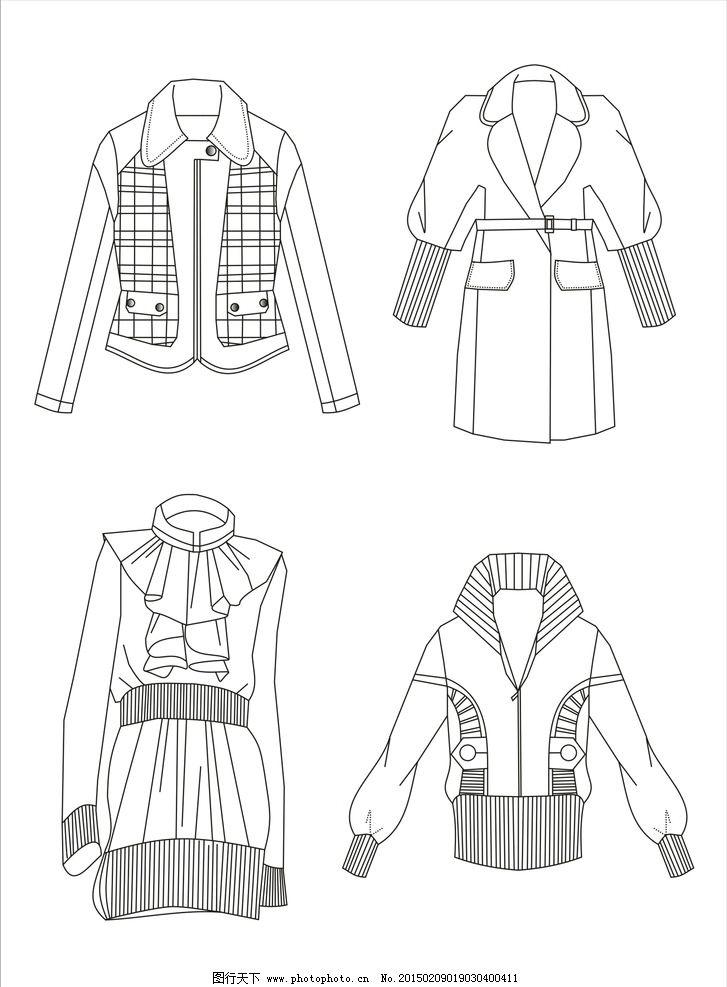 服装款式图 服装线描图 手绘 服装设计 线描稿 原创 共享