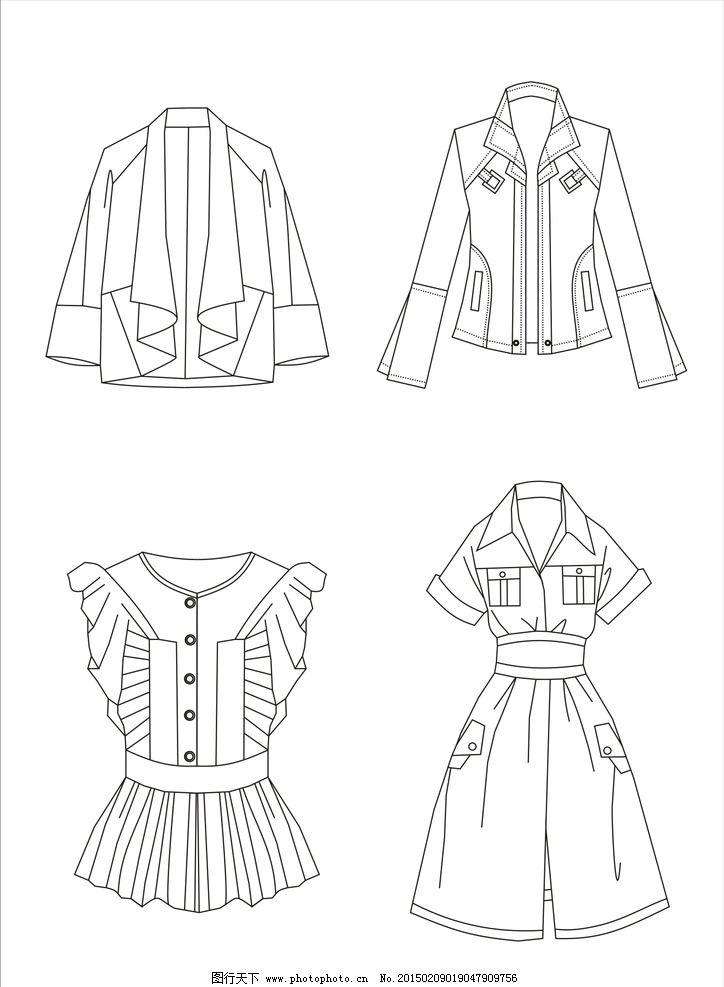 服装 款式图 服装款式图 服装线描图 手绘 线描 cdr 设计 服装设计