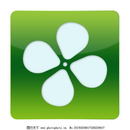 ios启动图标,环保 绿色 小花朵 小图标 主界面图标-图