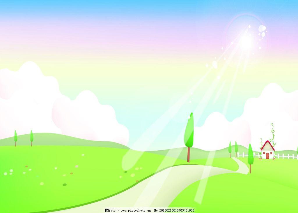 乡间小路背景图片