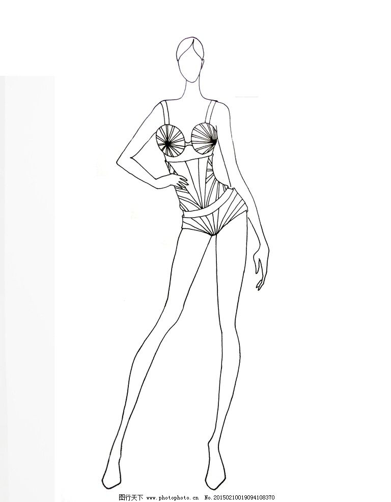 服装 线描图 手绘稿 手绘素材 服装线描图 手绘 线描 ps 设计 服装